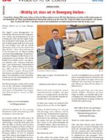 """Künzli Holz AG in der """"Davoser Zeitung"""", Wäärche & Läba, 02/2017"""