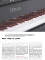 """Piano Rätia 132 in der """"Schreinerzeitung"""" Nr. 35, 08/2018"""