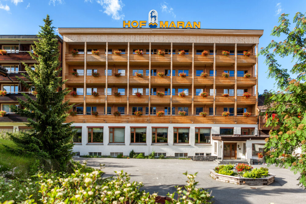 Hotel Hof Maran, Arosa, Graubuenden Timber and Window Construction, Interior Design