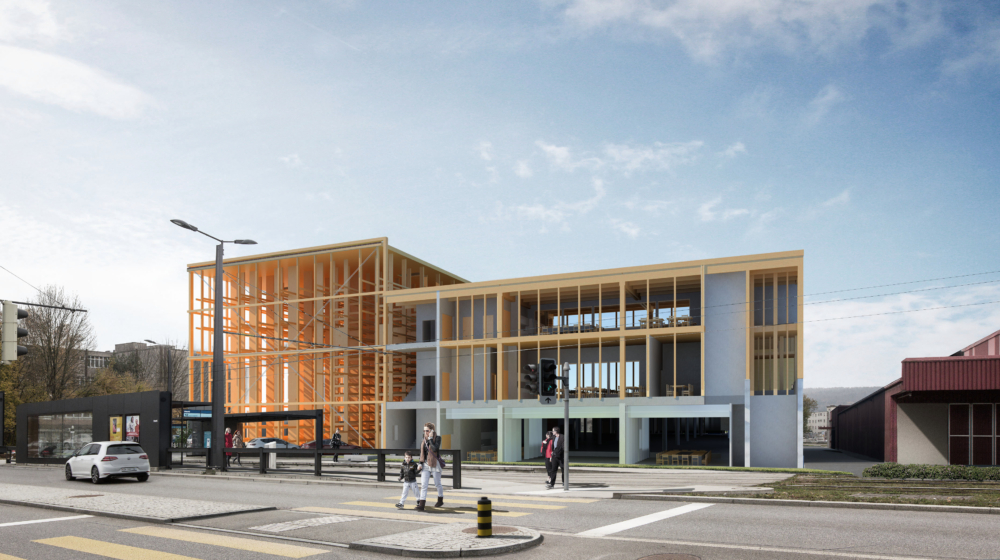 High-bay warehouse Winterhalter + Fenner, Wallisellen Mass Timber Construction