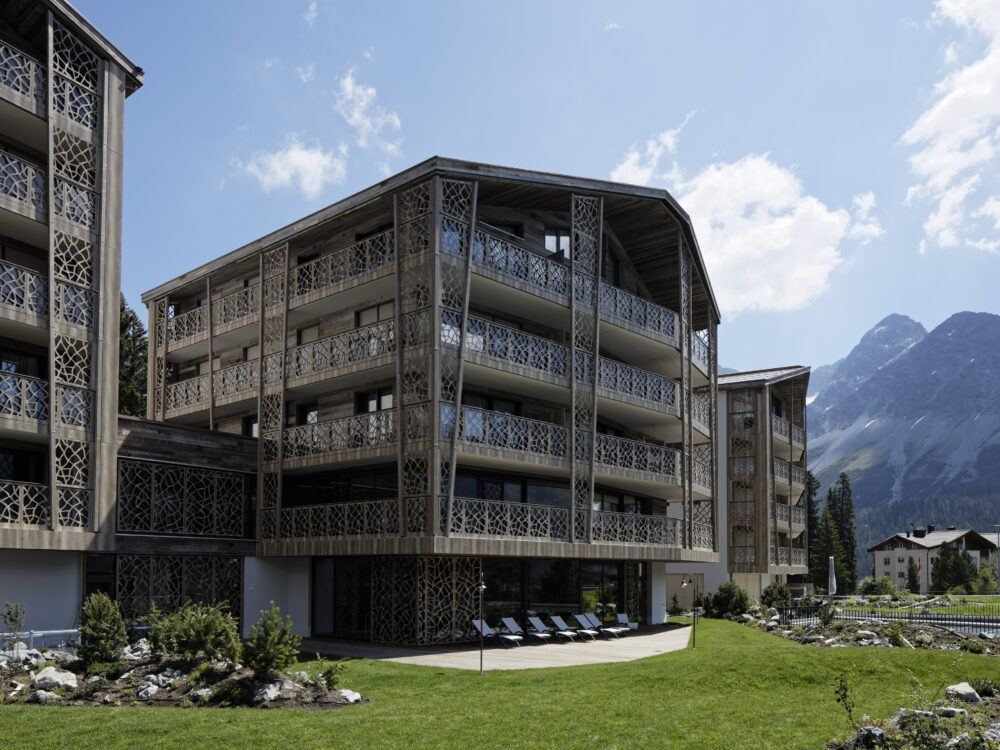 Valsana Hotel & Apartments, Arosa, Graubuenden Wood and Facade Construction