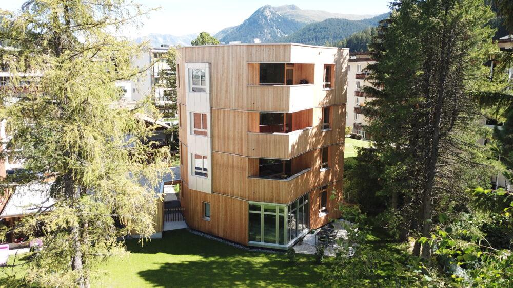 Mehrfamilienhaus, Davos, Graubünden Timber and Window Construction, Interior Design