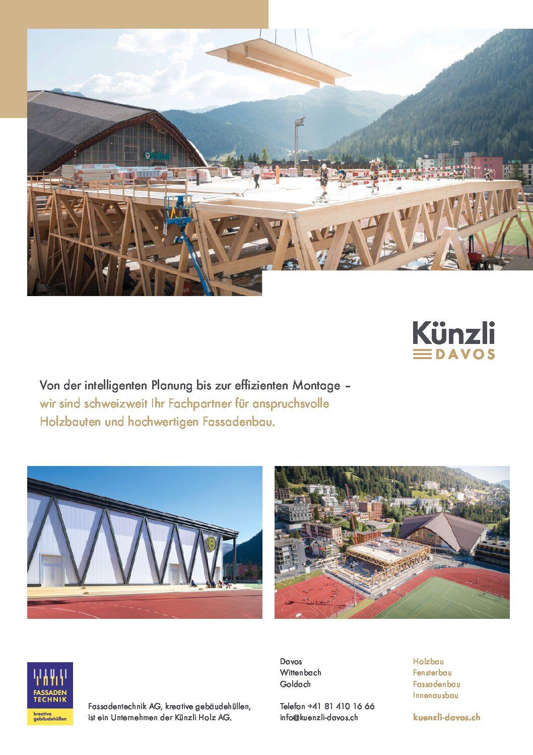 """Trainingshalle HCD Davos in """"intelligent bauen"""", 2019"""